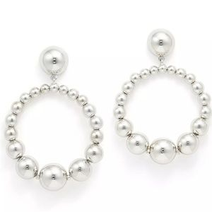 "kate spade Jewelry - Kate Spade ""Light Up"" Silver Circle Ball Earrings"